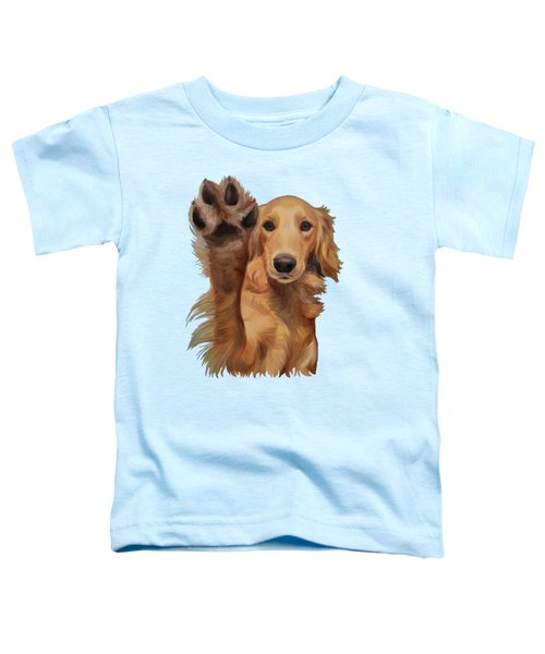 High Five Toddler T-Shirt by Jindra Noewi