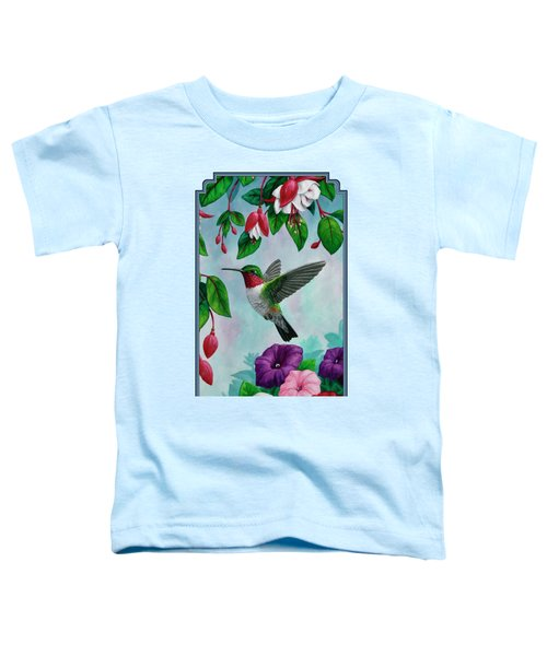 Hummingbird Greeting Card 1 Toddler T-Shirt by Crista Forest
