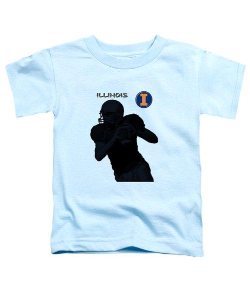 Illinois Football Toddler T-Shirt by David Dehner
