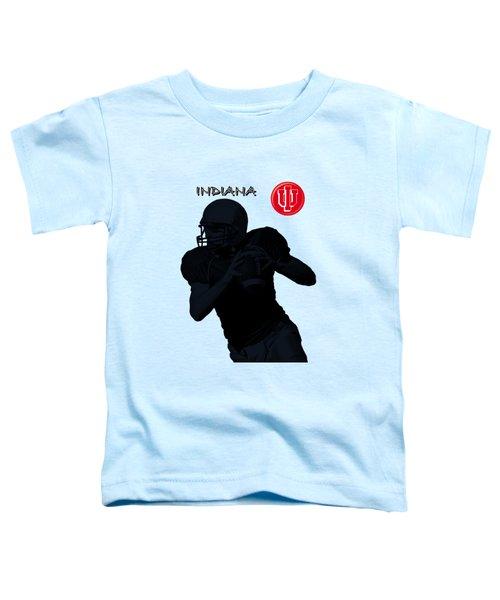 Indiana Football Toddler T-Shirt by David Dehner