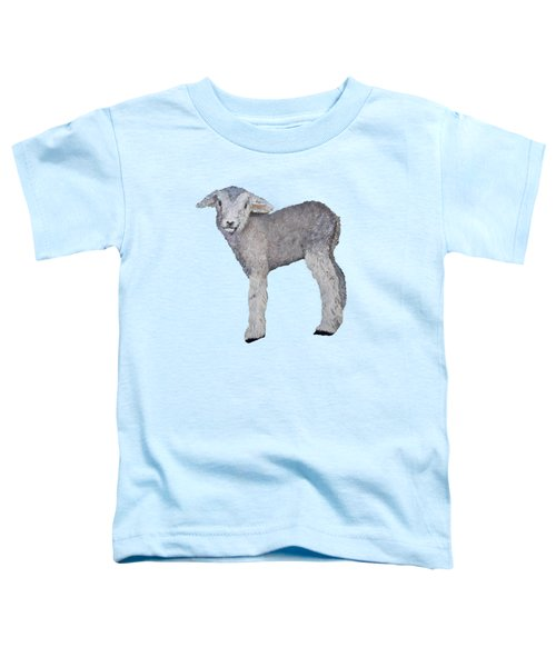 Lamb Toddler T-Shirt by Petra Stephens