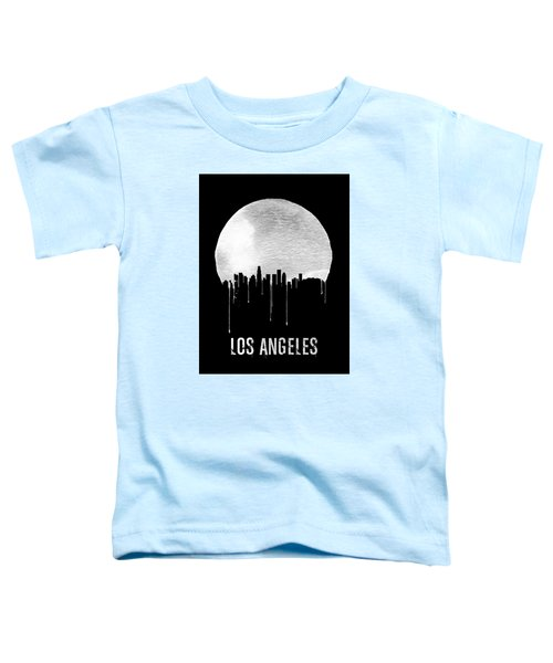 Los Angeles Skyline Black Toddler T-Shirt by Naxart Studio