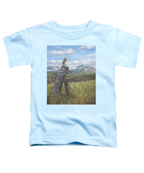 Meadowlark Serenade Toddler T-Shirt by Kim Lockman