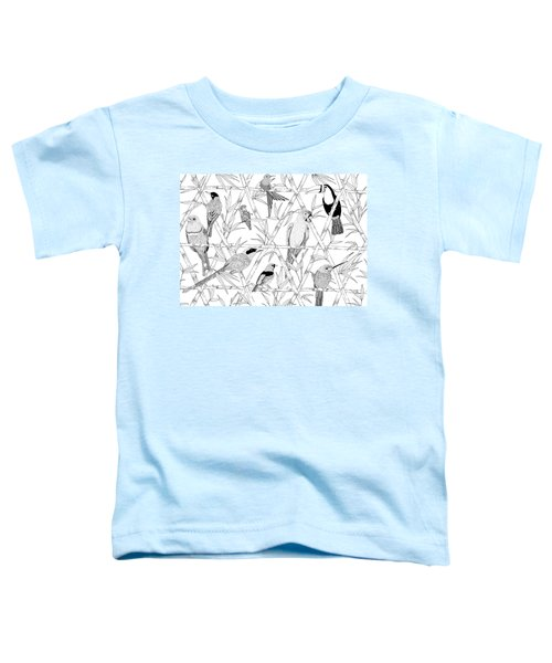 Menagerie Black And White Toddler T-Shirt by Jacqueline Colley