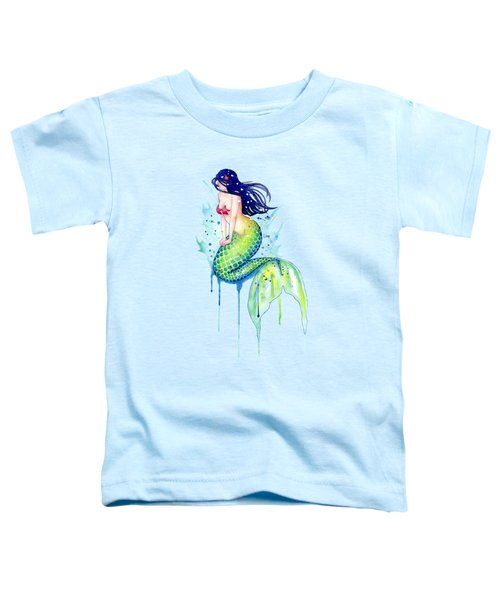 Mermaid Splash Toddler T-Shirt by Sam Nagel