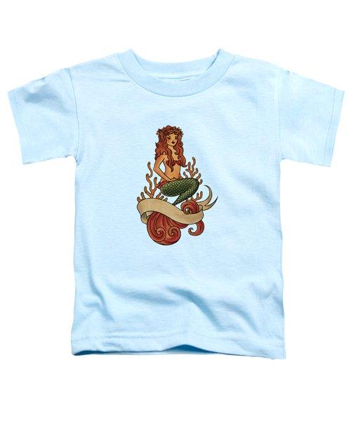 Mermaid Toddler T-Shirt by Susan Wall