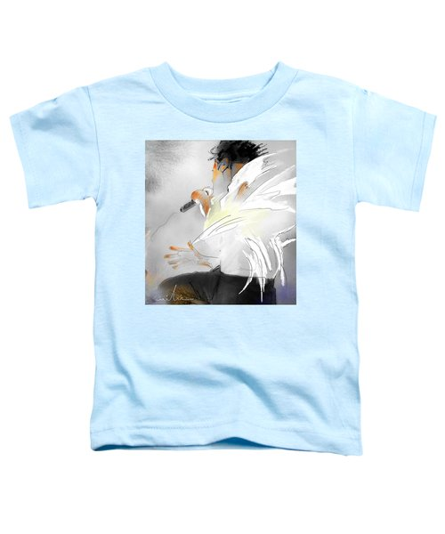 Michael Jackson 08 Toddler T-Shirt by Miki De Goodaboom