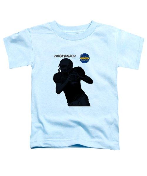 Michigan Football  Toddler T-Shirt by David Dehner