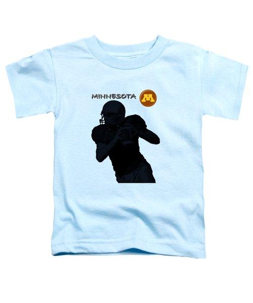 Minnesota Football Toddler T-Shirt by David Dehner
