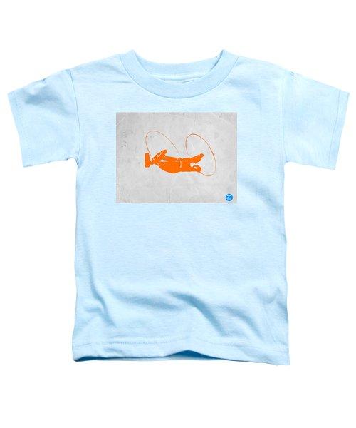 Orange Plane Toddler T-Shirt by Naxart Studio