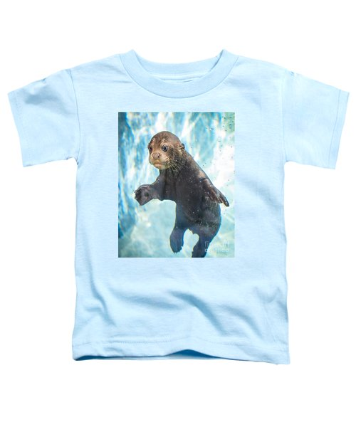 Otter Cuteness Toddler T-Shirt by Jamie Pham
