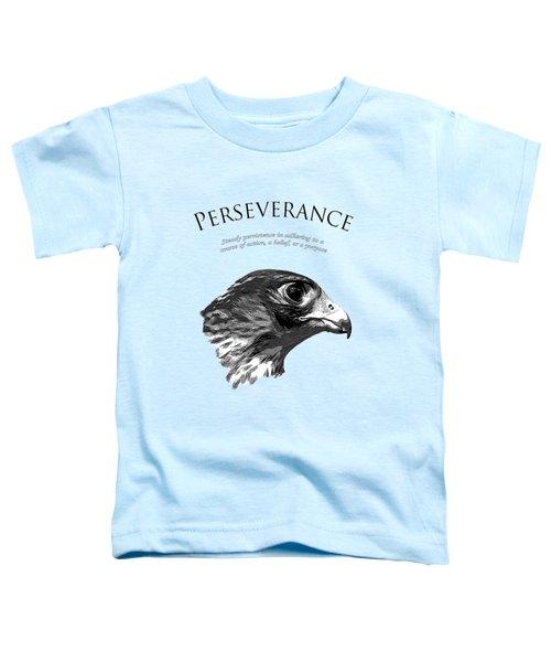 Peregrine Falcon Tashunka Toddler T-Shirt by Christina Rollo