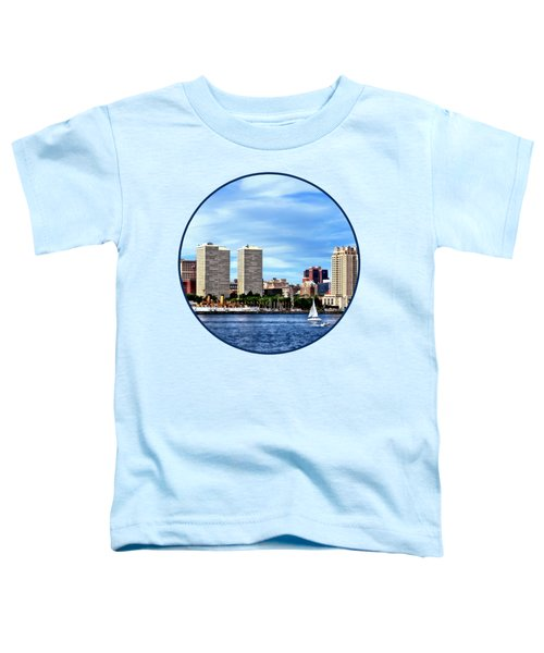 Philadelphia Pa Skyline Toddler T-Shirt by Susan Savad