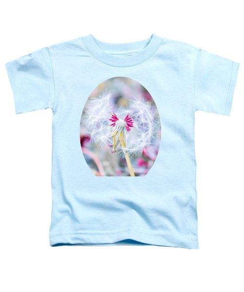 Pink Dandelion Toddler T-Shirt by Parker Cunningham