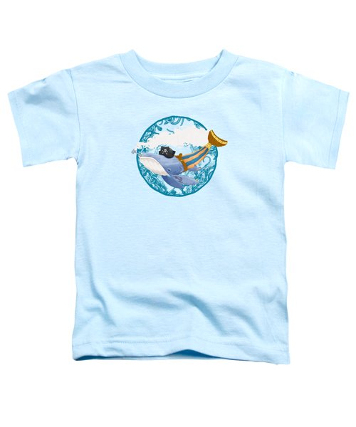 Pirate Whale Toddler T-Shirt by David Perez