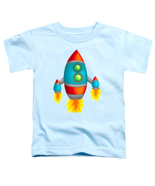 Retro Rocket Toddler T-Shirt by Brian Kemper