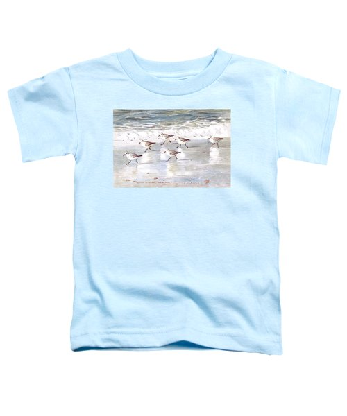 Sandpipers On Siesta Key Toddler T-Shirt by Shawn McLoughlin