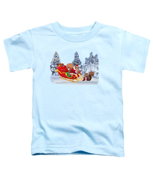 Santa's Little Helper Toddler T-Shirt by Glenn Holbrook