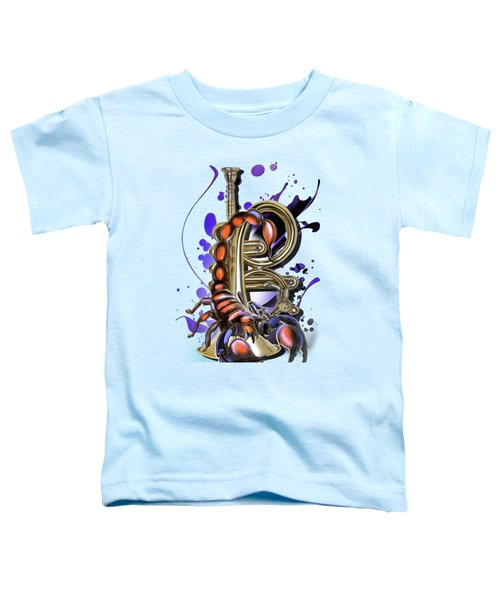 Scorpio Toddler T-Shirt by Melanie D
