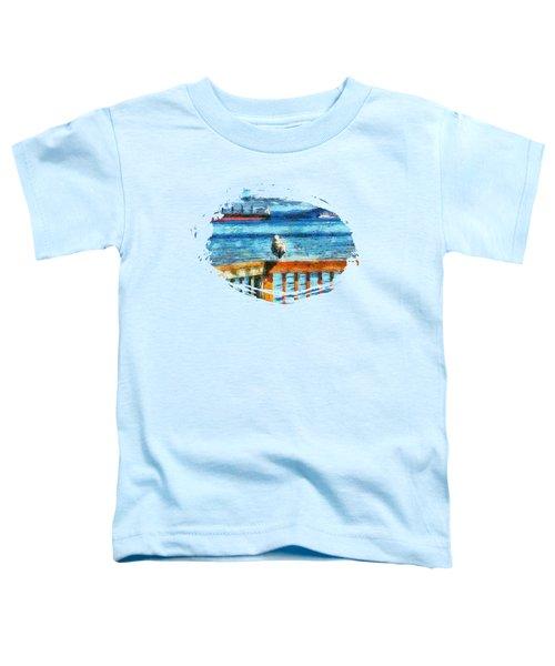 Seagull In Astoria  Toddler T-Shirt by Thom Zehrfeld