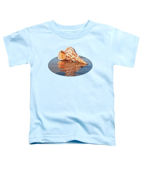 Sounds Of The Ocean - Trumpet Triton Seashell Toddler T-Shirt by Gill Billington