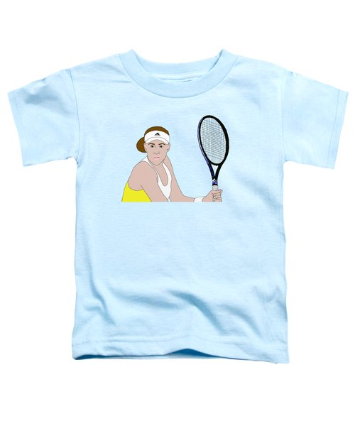 Tennis Player Toddler T-Shirt by Priscilla Wolfe