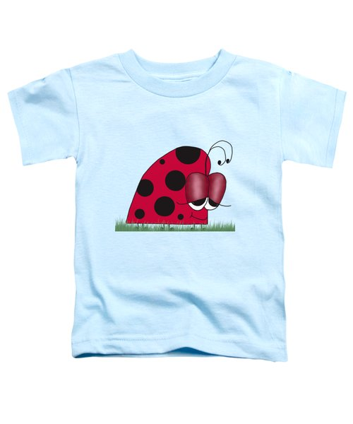 The Euphoric Ladybug Toddler T-Shirt by Michelle Brenmark