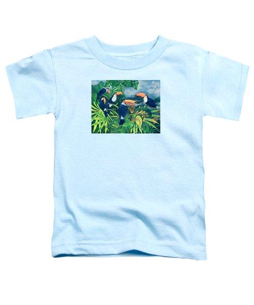 Toucan Talk Toddler T-Shirt by Lisa Graa Jensen