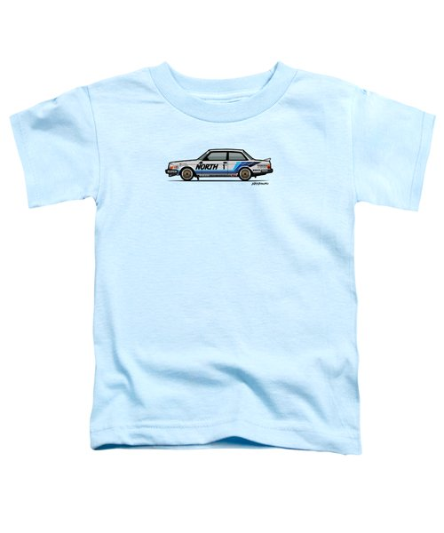 Volvo 240 242 Turbo Group A Homologation Race Car Toddler T-Shirt by Monkey Crisis On Mars