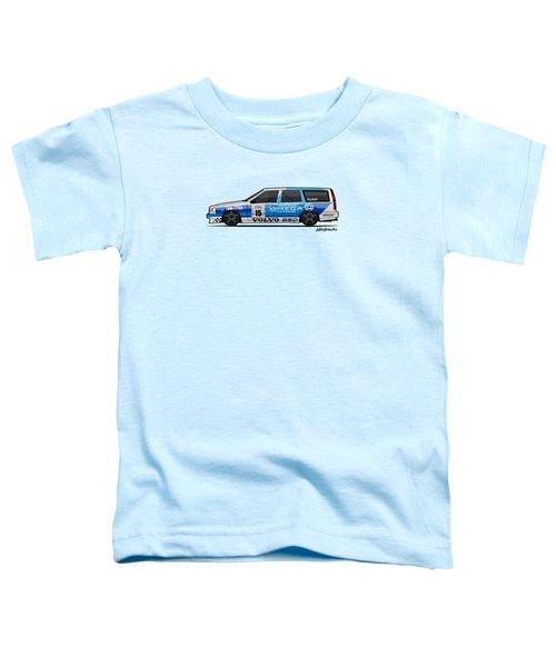 Volvo 850r Twr British Touring Car Championship  Toddler T-Shirt by Monkey Crisis On Mars