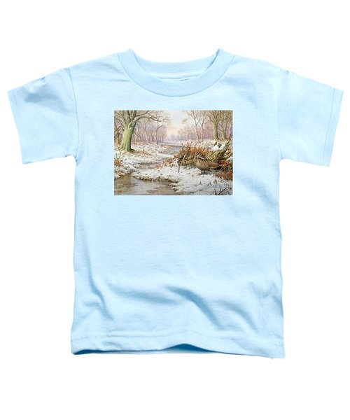 Woodcock Toddler T-Shirt by Carl Donner