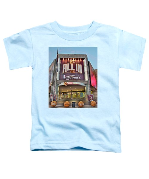 World Champion Cleveland Cavaliers Toddler T-Shirt by Frozen in Time Fine Art Photography