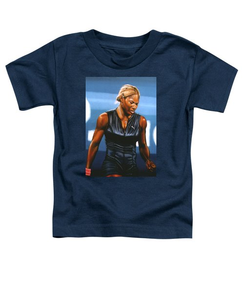 Serena Williams Toddler T-Shirt by Paul Meijering
