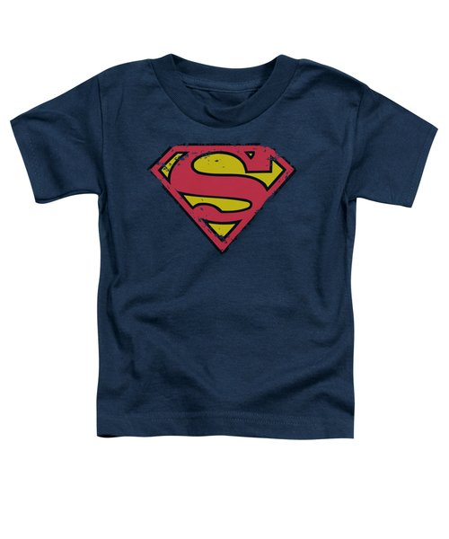Superman - Distressed Shield Toddler T-Shirt by Brand A