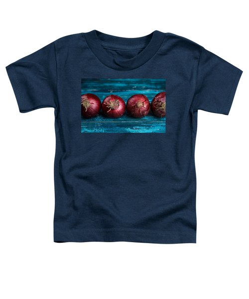 Red Onions Toddler T-Shirt by Nailia Schwarz