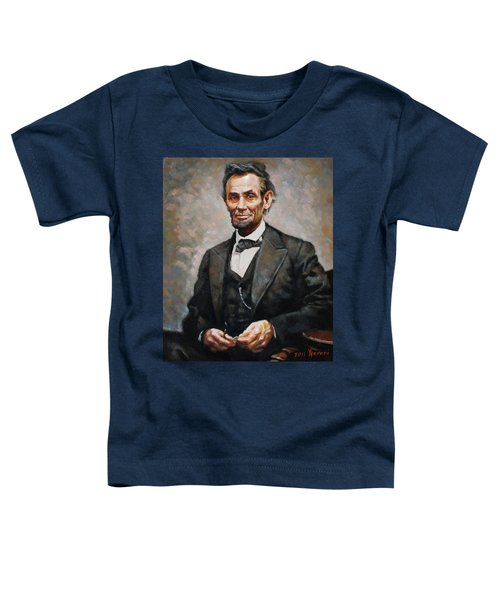 Abraham Lincoln Toddler T-Shirt by Ylli Haruni