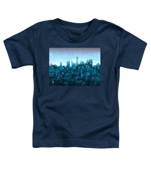 Austin Skyline Geometry 3 Toddler T-Shirt by Bekim Art
