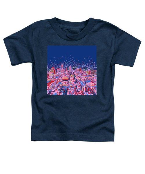Austin Texas Abstract Panorama Toddler T-Shirt by Bekim Art