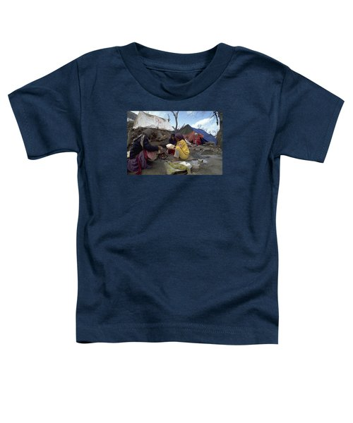 Toddler T-Shirt featuring the photograph Camping In Iraq by Travel Pics