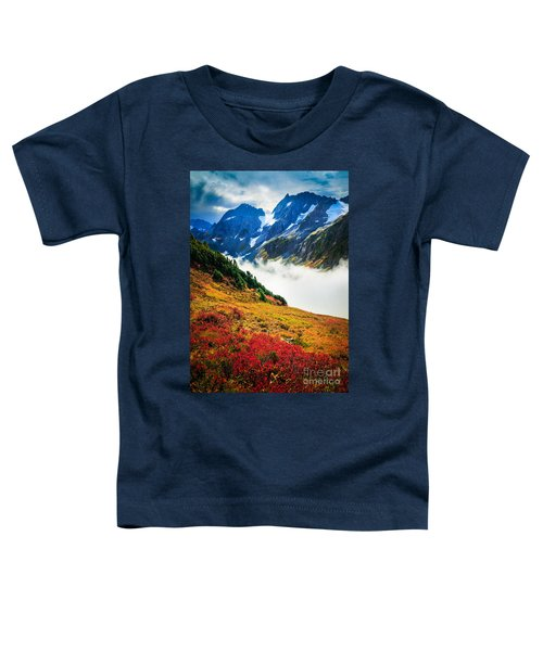 Cascade Pass Peaks Toddler T-Shirt by Inge Johnsson