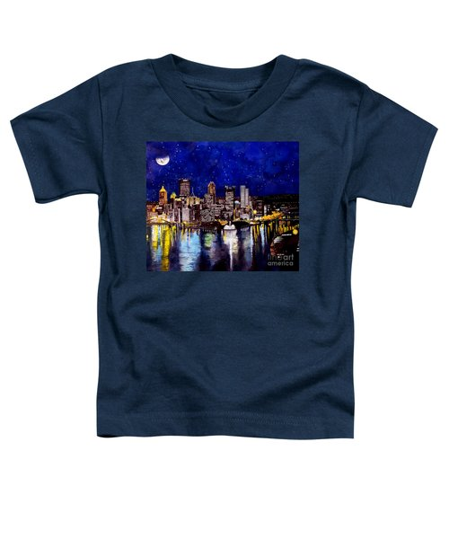City Of Pittsburgh At The Point Toddler T-Shirt by Christopher Shellhammer