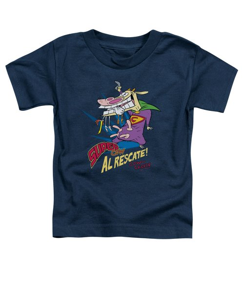 Cow And Chicken - Super Cow Toddler T-Shirt by Brand A