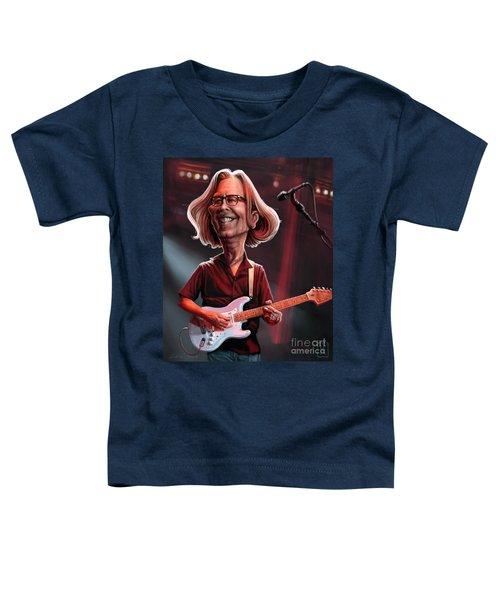Eric Clapton Toddler T-Shirt by Andre Koekemoer
