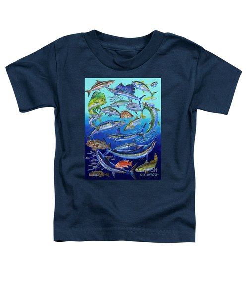 Gamefish Collage In0031 Toddler T-Shirt by Carey Chen