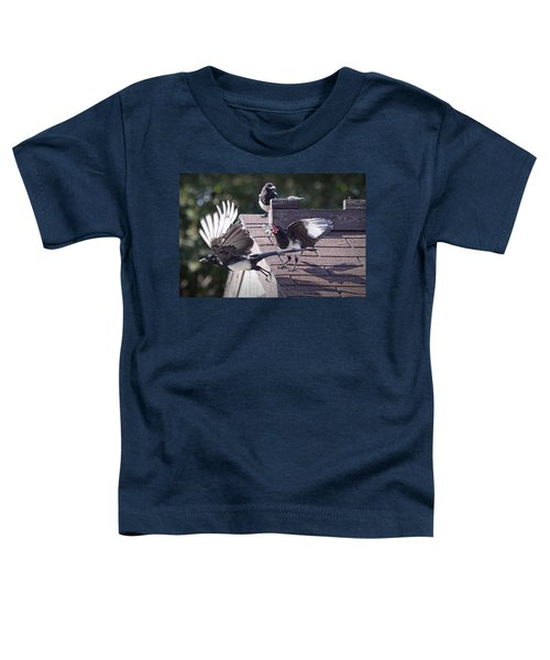 Magpie Dispute Toddler T-Shirt by Randall Nyhof