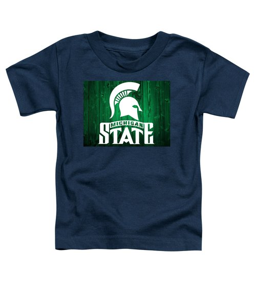 Michigan State Barn Door Toddler T-Shirt by Dan Sproul