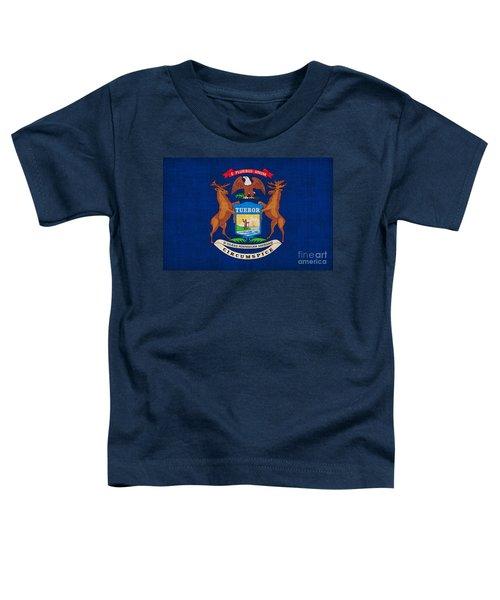 Michigan State Flag Toddler T-Shirt by Pixel Chimp