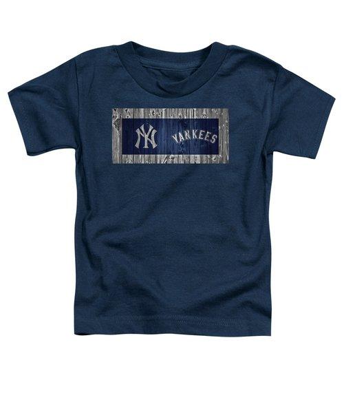 New York Yankees Barn Door Toddler T-Shirt by Dan Sproul