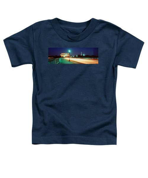 Night, Lincoln Memorial, District Of Toddler T-Shirt by Panoramic Images