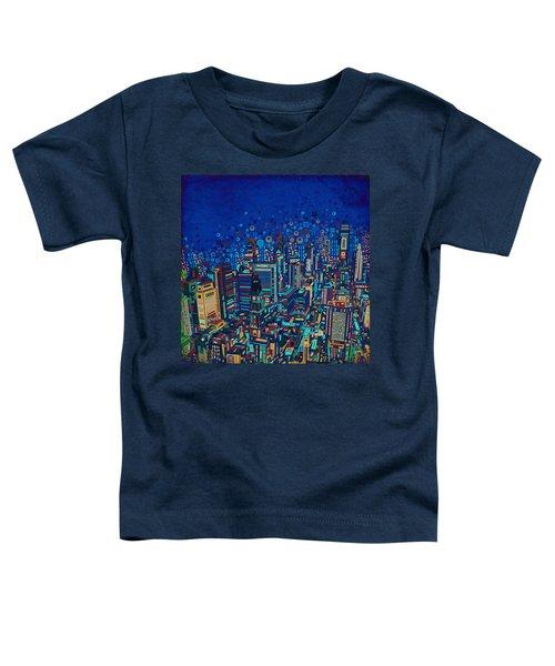 Philadelphia Panorama Pop Art 2 Toddler T-Shirt by Bekim Art
